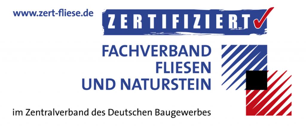 Zert-Fliese Zertififzierung für die Teilnahme an den Fachvorträgen.