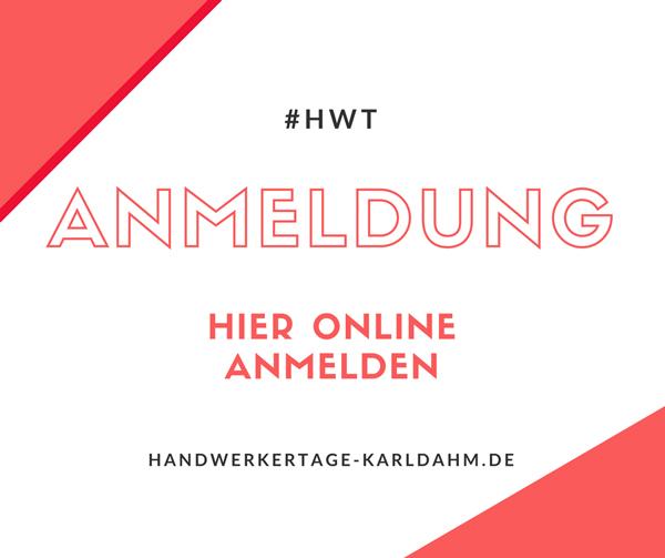 Online Anmeldung KARL DAHM Handwerkertage